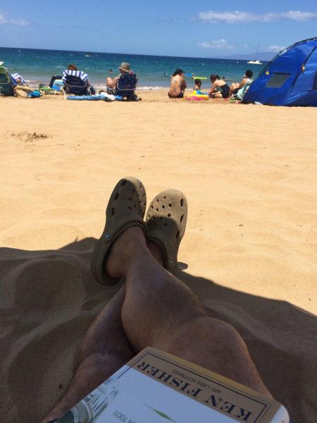 At A Maui Beach