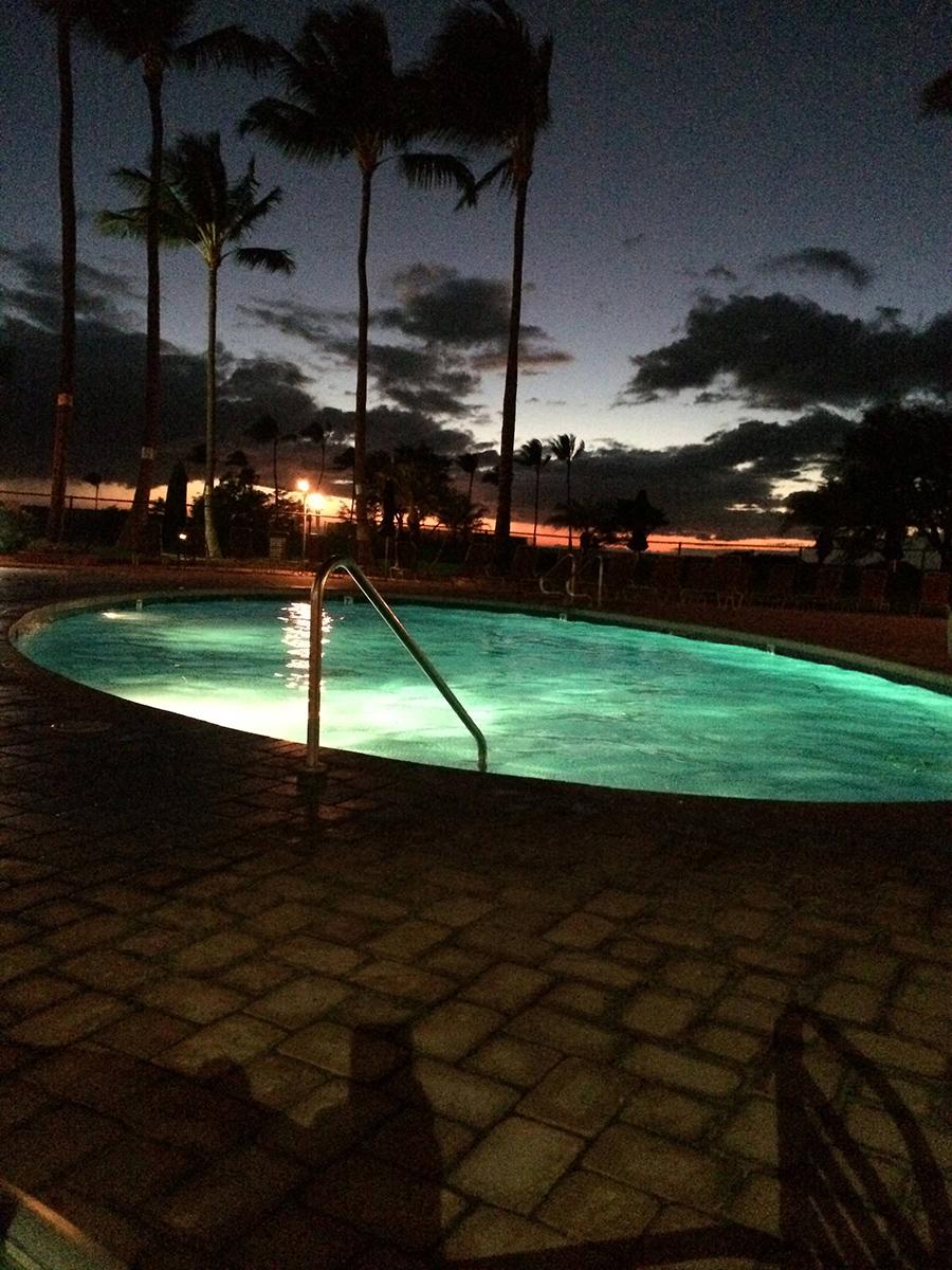 Luana Kai Hot Tub at Night