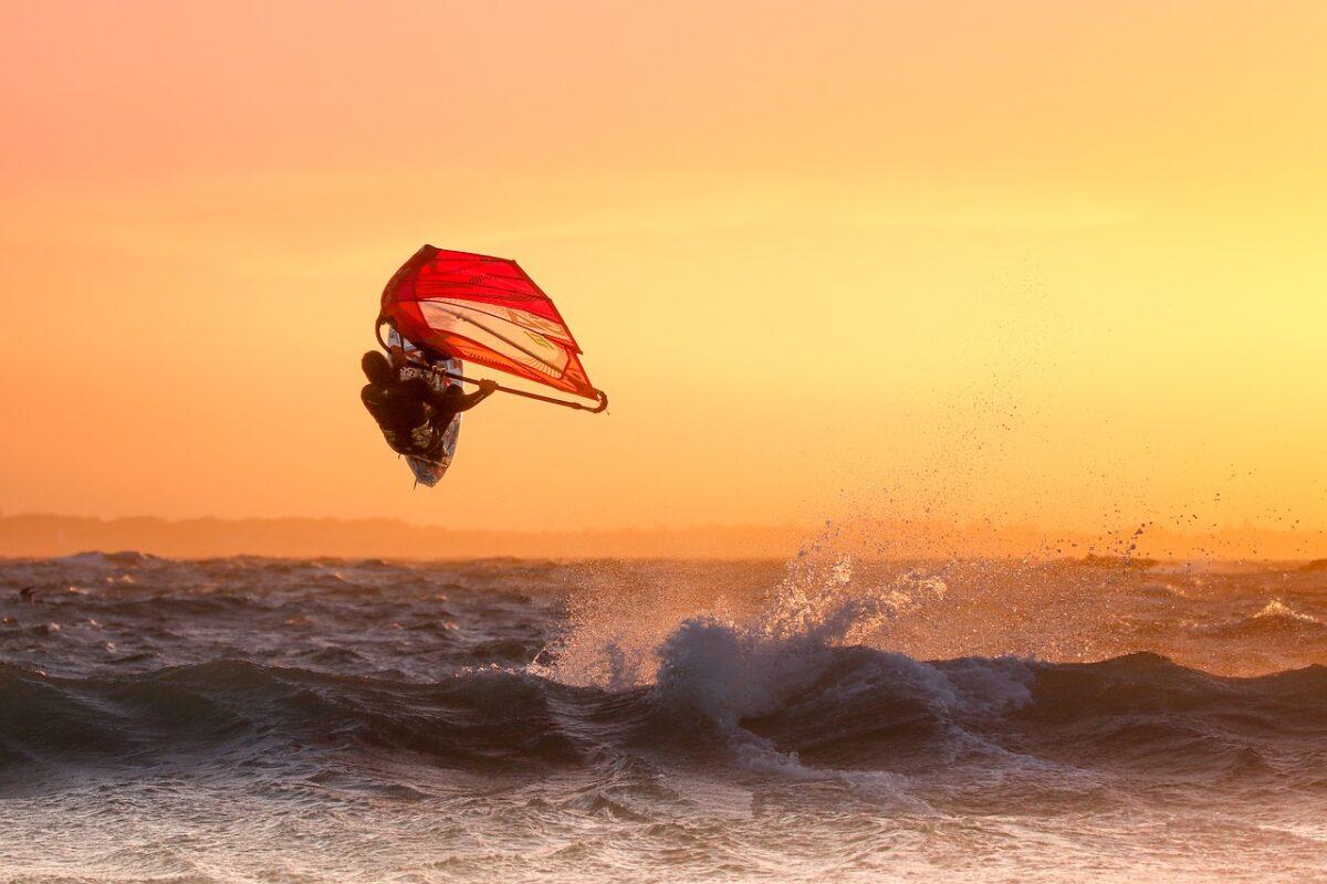 Sunset Wind Surfing